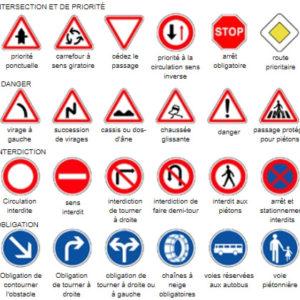 panneau de signalisation routière
