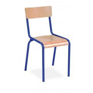 Chaise scolaire empilable bois et tube